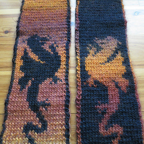 My First Knitting Pattern – Fire Dragon Scarf