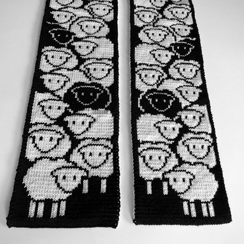 Counting Sheep Scarf Pattern