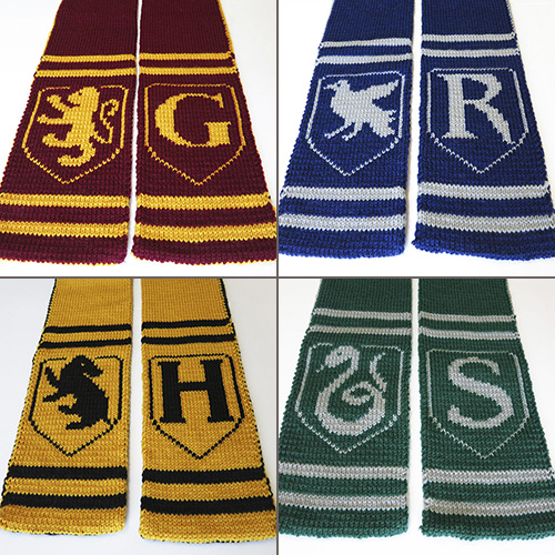 Hogwarts Spirit Scarf Patterns
