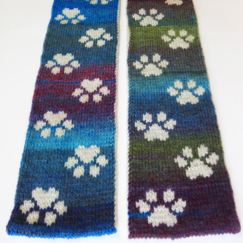 Pawprints Scarf Pattern