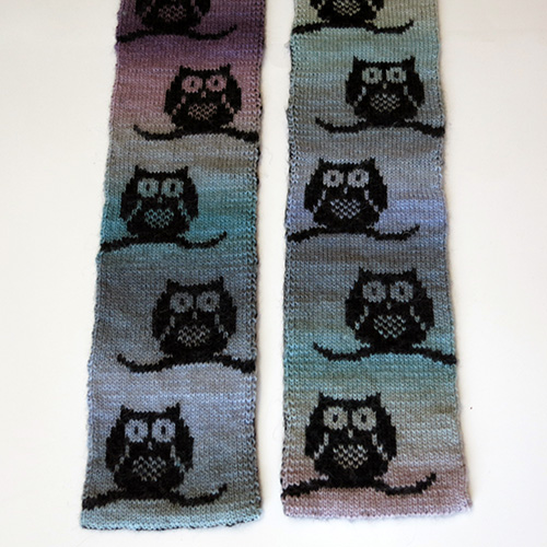 Parliament of Owls Scarf Pattern