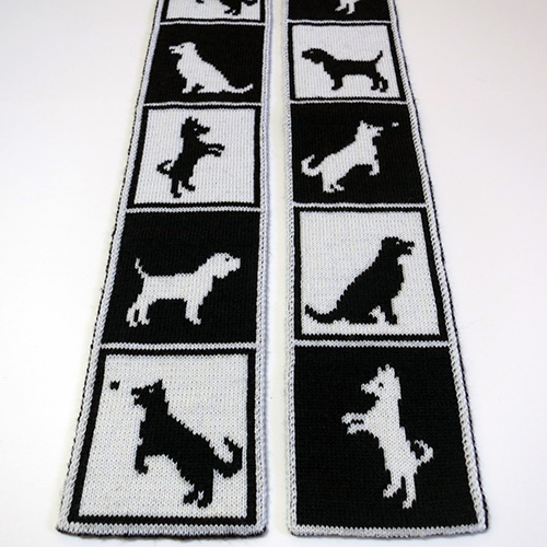 Dogs in Boxes Scarf Pattern – 20% Off!