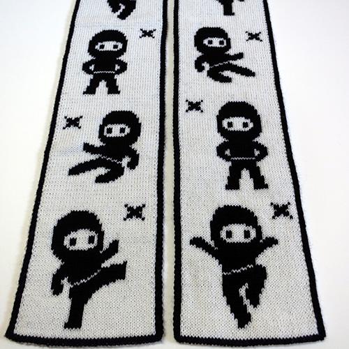 Lil Ninjas Scarf Pattern