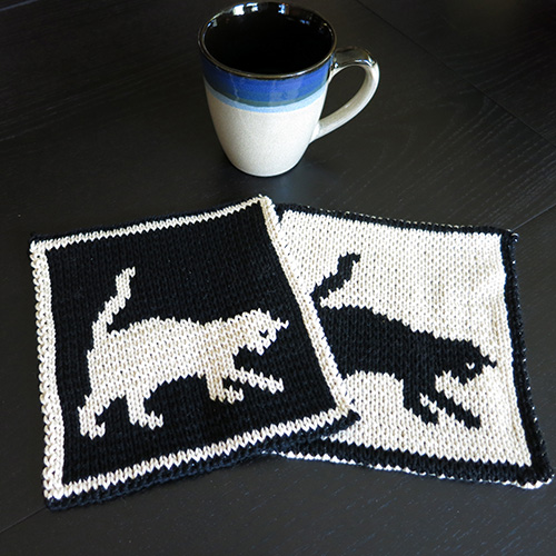Free Cat Playtime Potholder Pattern