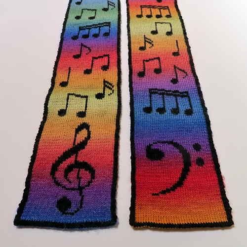 Musical Scarf Pattern – 20% off on Ravelry!