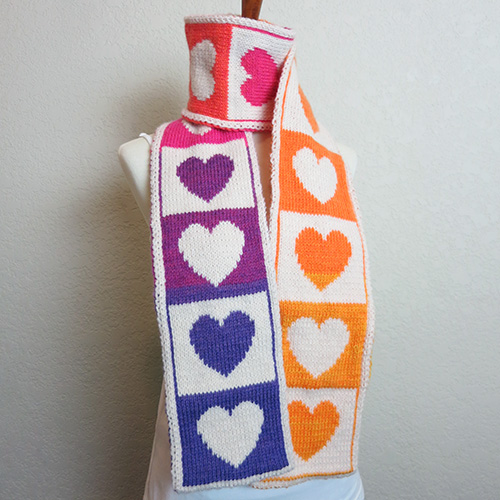 Share the Love Scarf – 20% Off on Ravelry!